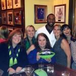The Pollock staff enjoying the 2014 Seahawks Celebrity Waiter Night with Paul Richardson.